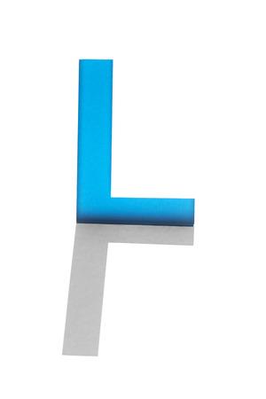 cutout: Alphabet of cutout stencil letters Stock Photo