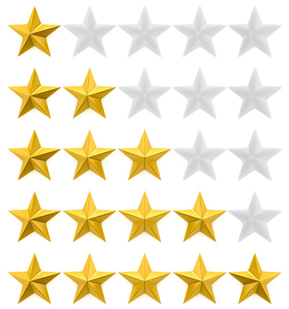 five star: One to five star review Stock Photo