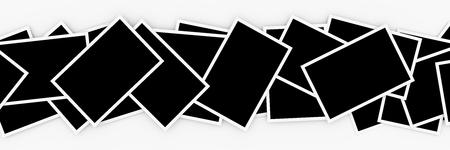 Pile di foto in bianco Archivio Fotografico - 64515444