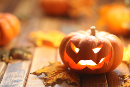Halloween jack o lantern background Stock Photo