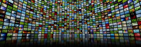 Reuze multimedia video en beeldmuur