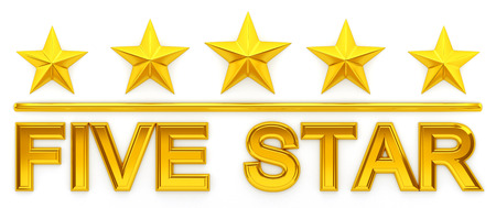 five star: Five Star - 3d rendering Stock Photo