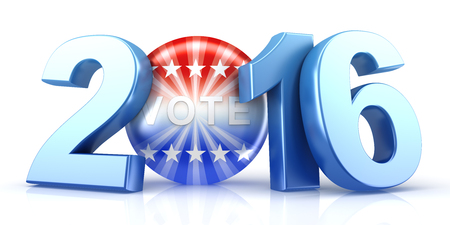 elect: 2016 election - 3d rendering