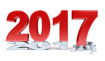 the end of the year: Happy New Year - 2017 Stock Photo