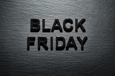 Black Friday on dark slate background Stock Photo