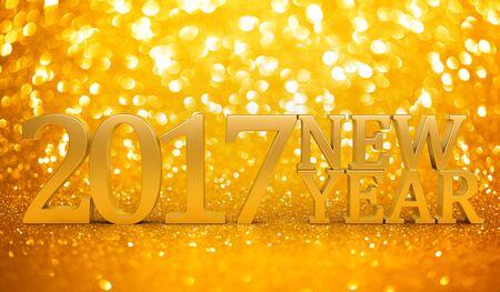 glitz: 2017 New years glitter background Stock Photo