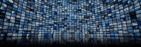 巨大なマルチ メディア ビデオおよびイメージの壁