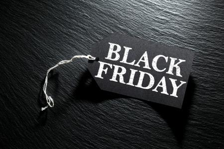 Black Friday Sale tag on dark slate background