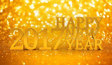 2017 New years glitter background Stock Photo