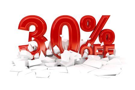 Percent off discount sale - 3d render