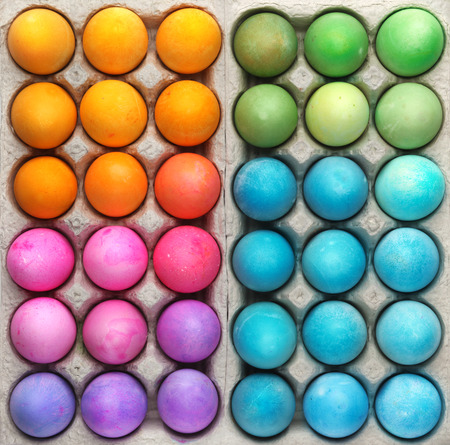 Colorful Easter eggs background
