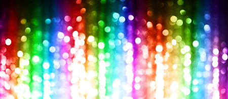 Rainbow of abstract lights background Stock Photo
