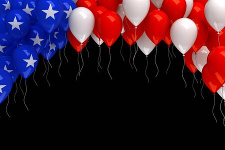 red white and blue: Red, white, and blue balloons background