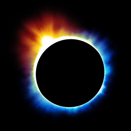 Solar eclipse background Stock Photo
