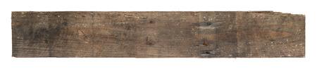 Antiguo desgastado tabla de madera aislado en blanco Foto de archivo - 84417856