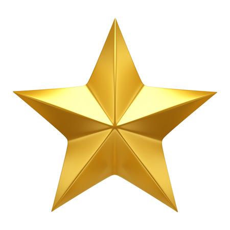 five stars: Golden Star  - 3d render