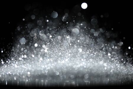 Sparkling glittering lights abstract background Stock Photo