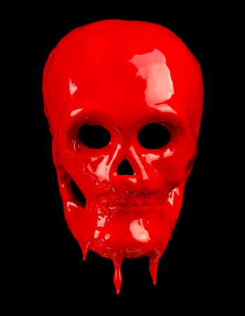 Red bloody Holloween skull Фото со стока