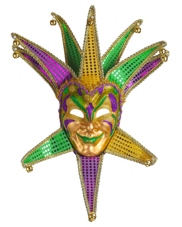 Colorful Mardi Gras mask isolated on white