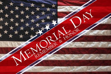 Amerikaanse vlag Herdenkingsdag Stockfoto