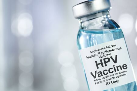 Small drug vial with HPV vaccine