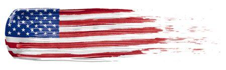 Mancha de pintura con los colores de la bandera estadounidense