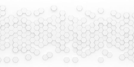 Bright hexagon wallpaper or background - 3d render Фото со стока