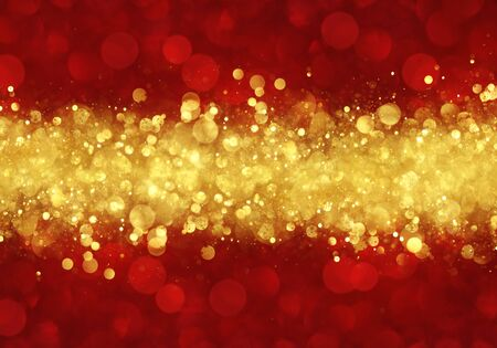 Red and gold abstract Christmas background Stock fotó