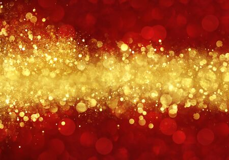Red and gold abstract Christmas background 版權商用圖片