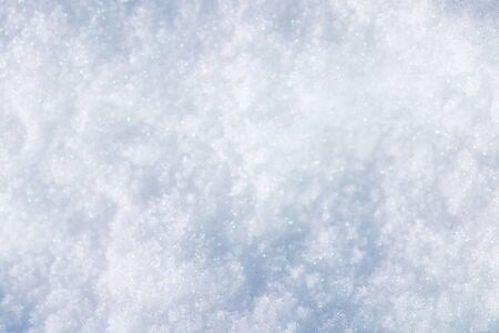 Sparkling soft white snow background