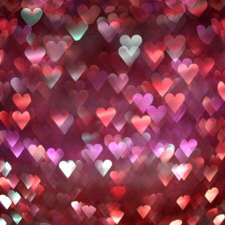 Bright red and pink hearts abstract 版權商用圖片