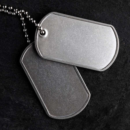 Old and worn military dog tags - Blank
