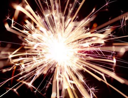 Close up of burning sparker 版權商用圖片