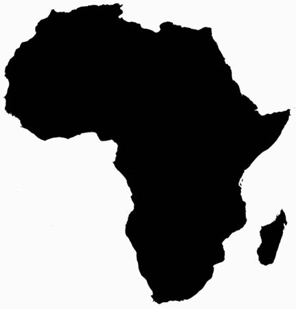 solid: Africa map solid
