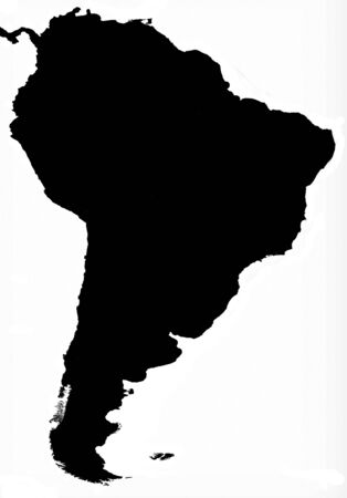solid: South America map solid