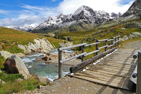 Gavia Torrent at Gavia Pass, Brixia province, Lombardy region, Italy. 2651 meters on the sea-level photo