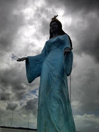 patron: Saint statue of a patron of the seas Stock Photo