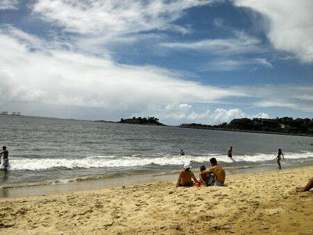 ocea: Family enjoying the beach, in Brazil