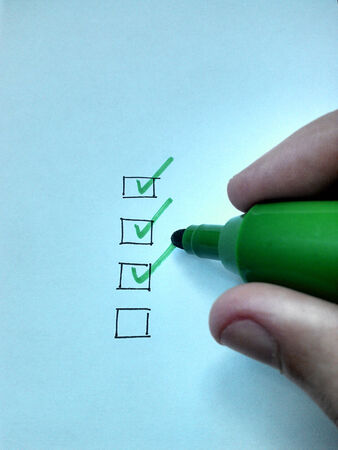 Checklist drawing by hand photo