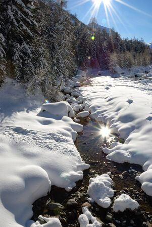 pine creek: Double sun on a bright and freezing winter day