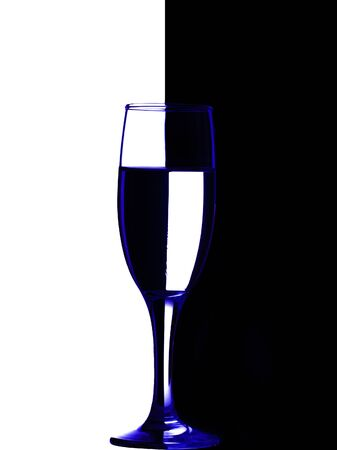 wine glass for drinking wine in good company Stock Photo