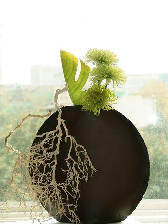 ikebana: An example of Ikebana, the Japanese art of flower arrangement