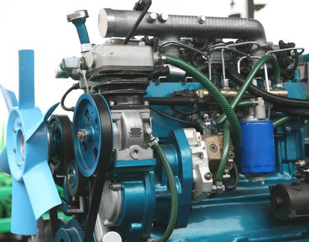 mechanical: Close-up shot van turbo geladen diesel-motor