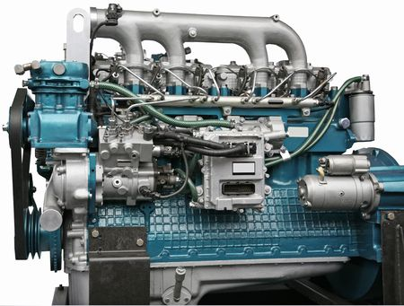 Close up shot of turbo charged diesel engine Stock Photo - 3703493