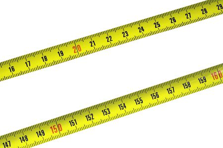 Tape Measure on white background Stock Photo - 3997280