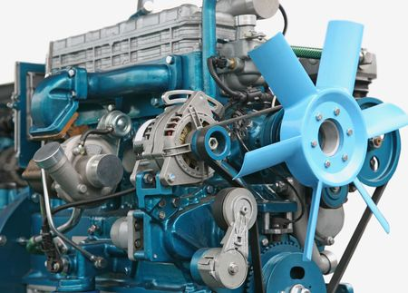 Close up shot of turbo charged diesel engine Stock Photo - 4700159