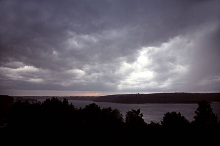 The big powerful storm clouds before a thunder-storm Stock Photo - 5184553