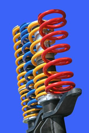 shock-absorbers isolated on blue Stock Photo - 5260823