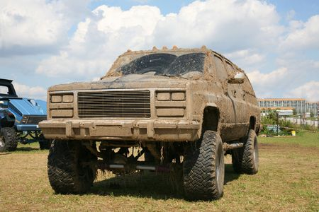 utility vehicle: Offroading monster truck on show autoexotic