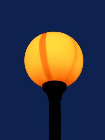 Orange light of the round fixture Stock Photo - 5536677